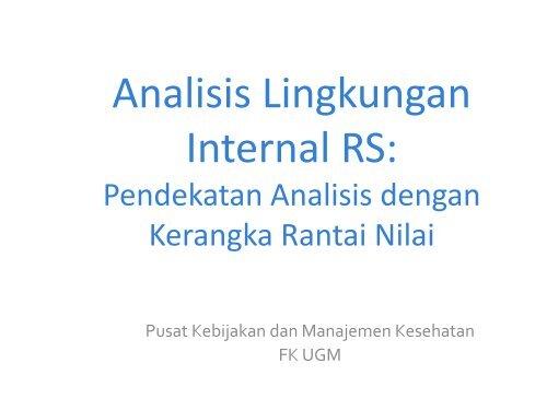 Analisis & Proyeksi Kinerja Internal - Manajemen Rumah Sakit ...