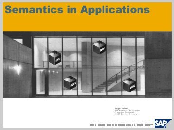 The Semantic Web and its Applications
