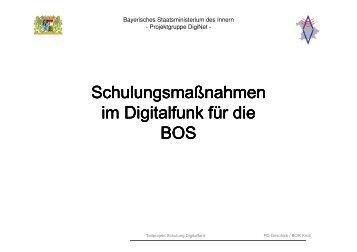 Schulungsmaßnahmen im Digitalfunk für die BOS