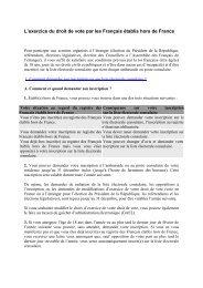 L'exercice du droit de vote par les Français établis hors de France