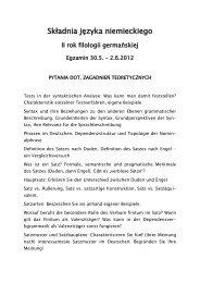 Składnia języka niemieckiego - Instytut Filologii Germańskiej