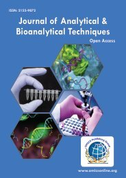 Journal of Analytical & Bioanalytical Techniques - OMICS Group