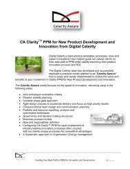 CA Clarity PPM for New Product Development and ... - Digital Celerity