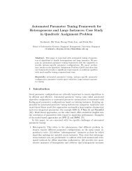 Automated Parameter Tuning Framework for Heterogeneous and ...