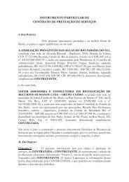 INSTRUMENTO PARTICULAR DE CONTRATO DE ... - ceivap