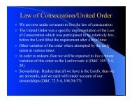 Consecration and the United Order
