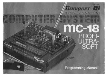 Graupner/JR mc-18 English Instructions - Part 1 - Pages 1 ... - Ef-uk.net