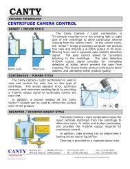 CENTRIFUGE CAMERA CONTROL - Liquidyne