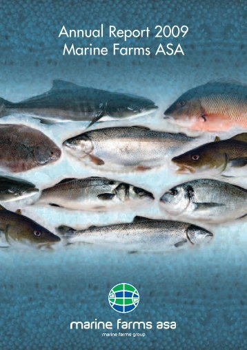 Annual report Marine Farms 2009 - Morpol