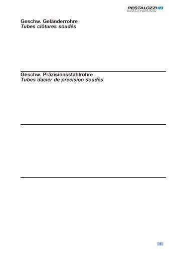 Preisliste geschw. Präzisionsstahlrohre + ... - Stahltechnik