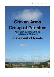 Craven Arms Group of Parishes - The Diocese of Hereford