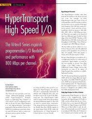 Xilinx - HyperTransport™ High Speed I/O with Virtex®-II