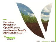Verde fertilizantes - Verde Potash