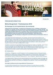 Bühne Burgenland – Festivalsommer 2012