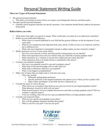 college personal statement template