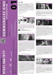 Reservierungstelefon - Kommunales Kino Pforzheim
