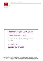 Le lycée Marie Curie - Tarbes-Infos