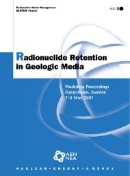 Radionuclide Retention in Geologic Media - OECD Nuclear Energy ...