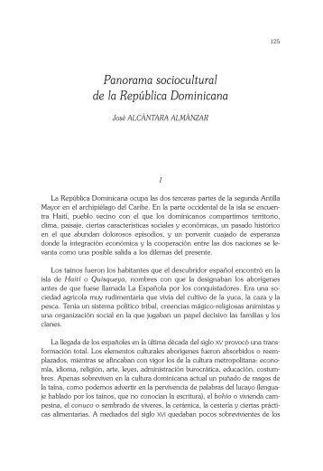 Panorama sociocultural de la República Dominicana