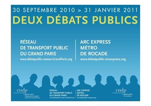 Le diaporama des CPDP de la présentation des ... - Arc Express