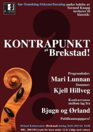 program Brekstad - Sør-Trøndelag Orkesterforening