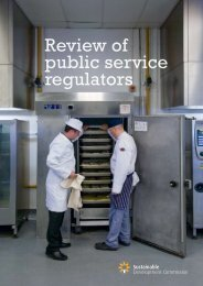 Review of Public Service Regulators - Sustainable Development ...