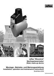 reflex 'fillcontrol' Nachspeisearmatur Montage-, Betriebs- und ...