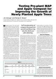 Testing Pre-plant MAP and Apple Compost for ... - Virtual Orchard