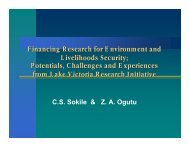 Financing Research for Environment and Livelihoods Security ...