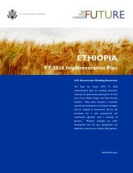 Ethiopia FY2010 Implementation Plan - Feed the Future