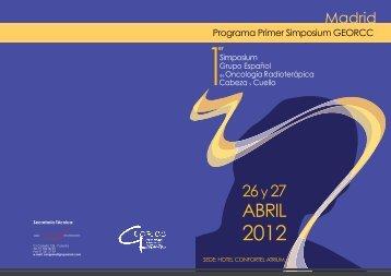 Programa Primer Simposium GEORCC - Sociedad Española de ...