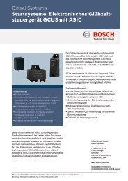 Datenblatt Glühzeitsteuergerät GCU3 - Bosch Automotive Technology