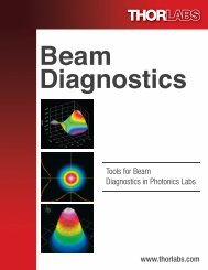 Tools for Beam Diagnostics in Photonics Labs - Thorlabs