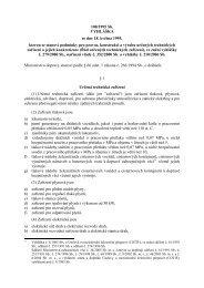 100/1995 Sb. VYHLÁŠKA ze dne 18. května 1995, kterou se stanoví ...