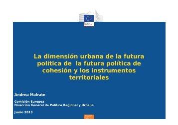 La dimensión urbana de la futura política de la futura política de ...