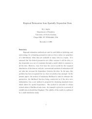 Regional Estimation from Spatially Dependent Data - Department of ...
