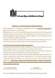 pubblicita' e deontologia professionale - Ordine degli Ingegneri ...
