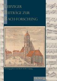 Leipziger Beiträge zur Bachforschung - Olms