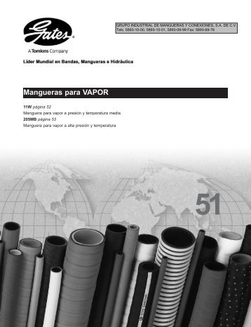 Mangueras para VAPOR - LSR Distribuidor