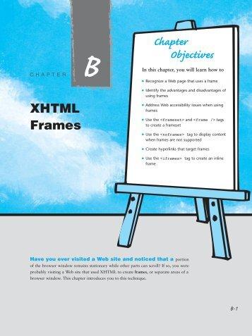 XHTML Frames