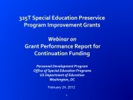 Grant Performance Report for Continuation Funding - NCIPP
