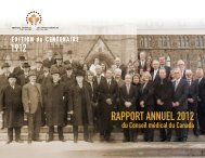 RAPPORT ANNUEL 2012 - Medical Council of Canada
