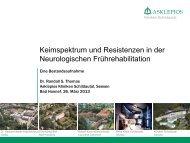 Resistenzprobleme in der Frührehabilitation - PEG-Symposien