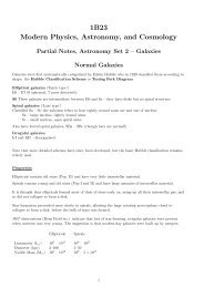 Lecture Notes – Galaxies - UCL Astronomy Group