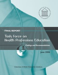 Task Force on Health Professions Education, Findings and ...