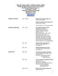 Dr's Curriculum Vitae (pdf) - Urogyn.org