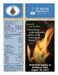 Twentieth Sunday in Ordinary Time August 18, 2013 - St Mary ...