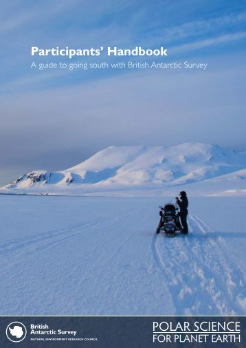 Participants Handbook 2012_print.indd - British Antarctic Survey