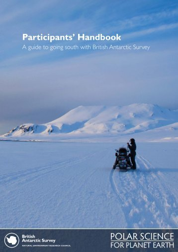 Participants Handbook 2012_print.indd - British Antarctic Survey