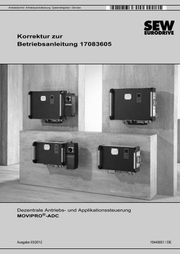 Korrektur zur Betriebsanleitung MOVIPRO®-ADC - SEW-Eurodrive